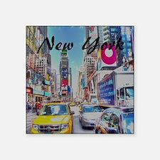 """NY_10x10_TimesSquare Square Sticker 3"""" x 3"""""""