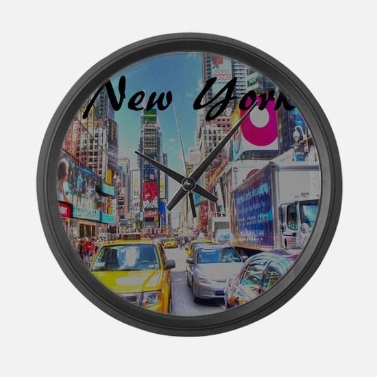 NY_10x10_TimesSquare Large Wall Clock