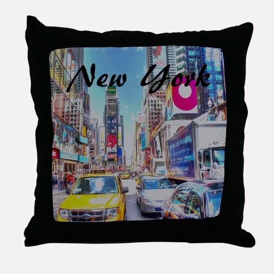 NY_10x10_TimesSquare Throw Pillow