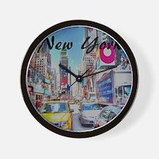 NY_10x10_TimesSquare Wall Clock