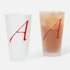 Dawkins Scarlet Letter Atheist Symb Drinking Glass