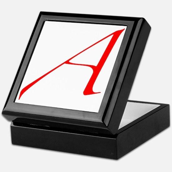 Dawkins Scarlet Letter Atheist Symbol Keepsake Box