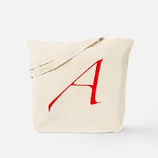 Dawkins Scarlet Letter Atheist Symbol Tote Bag