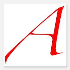 """Dawkins Scarlet Letter A Square Car Magnet 3"""" x 3"""""""