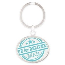 Delivery-MARclr Oval Keychain