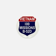 100 MISSIONS - B-52D Mini Button