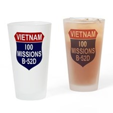 100 MISSIONS - B-52D Drinking Glass