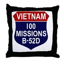 100 MISSIONS - B-52D Throw Pillow