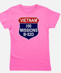 100 MISSIONS - B-52D Girl's Tee