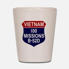 100 MISSIONS - B-52D Shot Glass