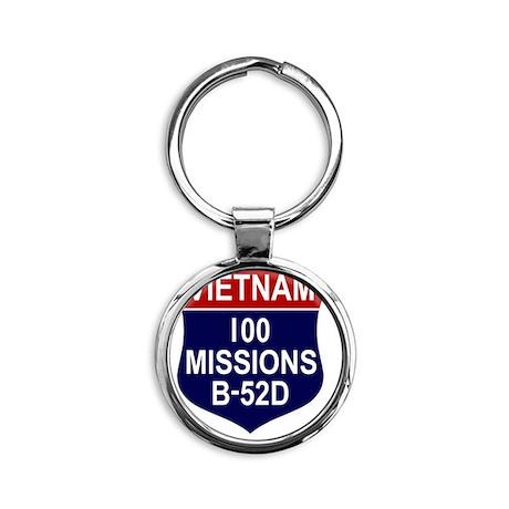 100 MISSIONS - B-52D Round Keychain