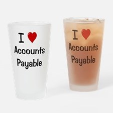 I Love Accounts Payable Drinking Glass