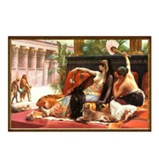Cleopatra Testing Poisons Postcards (Package of 8)