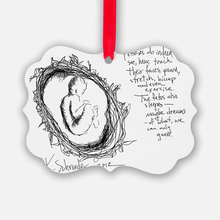 Baby In Womb - Artist Etching Ornament