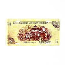 Bhutan 5 Ngultrun Reverse Aluminum License Plate