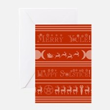 Yule Card red Greeting Cards