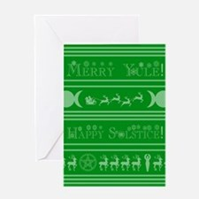 Yule Card Grn Greeting Cards