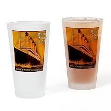 TGgoldWineLabel Drinking Glass