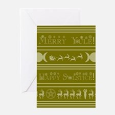 Yule Card Gld Greeting Cards