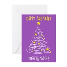 Solstice Card Grn Greeting Cards