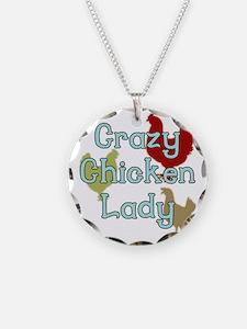 Crazy Chicken Lady Necklace