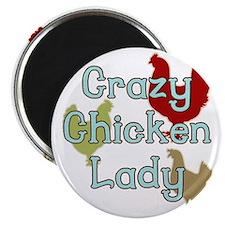 Crazy Chicken Lady Magnet
