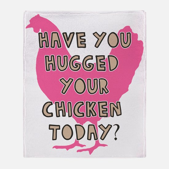 chickenhug Throw Blanket