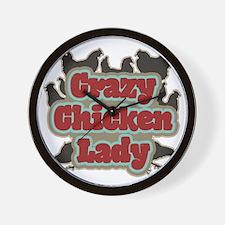 crazychickenladyshirt2 Wall Clock