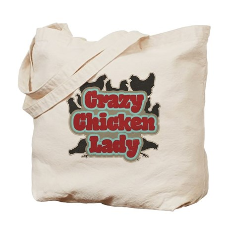 crazychickenladyshirt2 Tote Bag