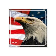"""Eagle Design 2 Tile Coaster Square Sticker 3"""" x 3"""""""