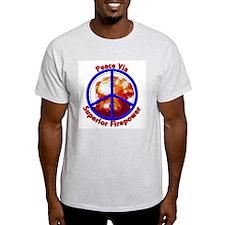 Peace Via Superior Firepower Ash Grey T-Shirt