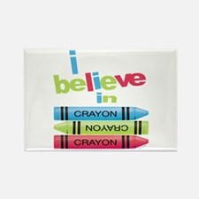 I believe in colors! Rectangle Magnet