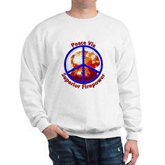 Peace Via Superior Firepower Sweatshirt