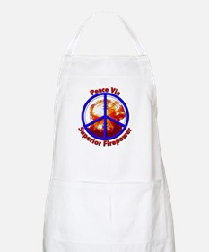 Peace via Superior Firepower BBQ Apron