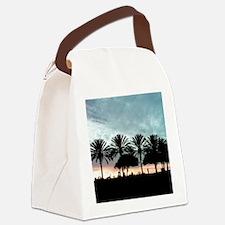 Palm Tree Sunset / Long Beach, CA Canvas Lunch Bag