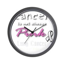 Cancer is Not Always Pink! Lung Cancer Wall Clock