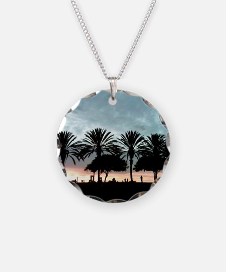 Palm Tree Sunset / Long Beac Necklace