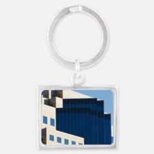 Optical Illusion/Downtown Long  Landscape Keychain