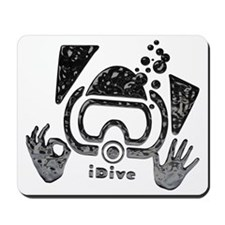 idive ok blk latex Mousepad