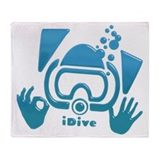 idive ok blue glass Throw Blanket