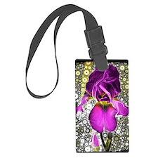 Grape Iris Luggage Tag
