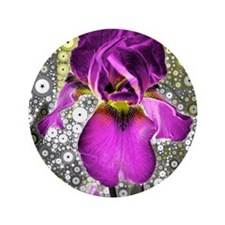 "Grape Iris 3.5"" Button"