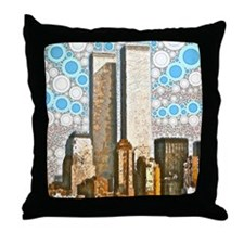 Twin Towers 1995 Throw Pillow