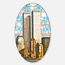 Twin Towers 1995 Sticker (Oval)