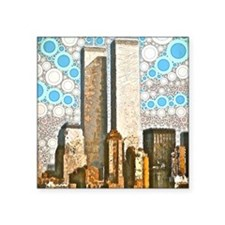 "Twin Towers 1995 Square Sticker 3"" x 3"""