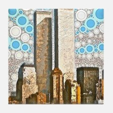 Twin Towers 1995 Tile Coaster