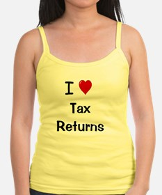 I Love Tax Returns Ladies Top
