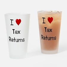 I Love Tax Returns Drinking Glass