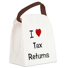 I Love Tax Returns Canvas Lunch Bag