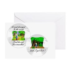 The road less travelled Greeting Card